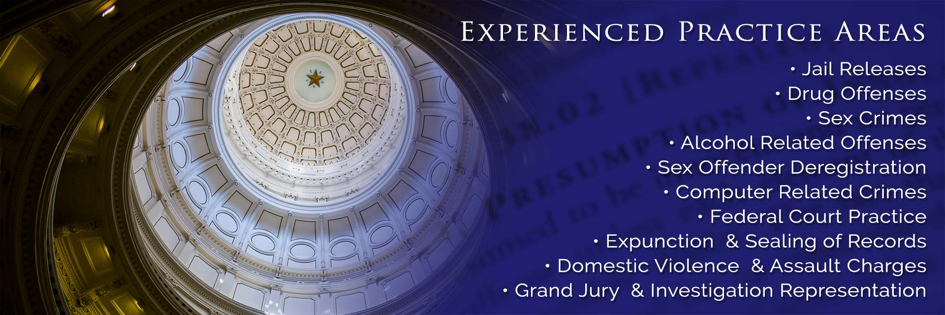 A list of the Experienced Areas of Legal Defense that makes Scott C. Smith your choice.